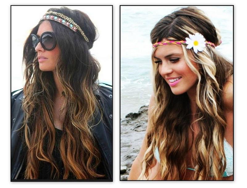 Letnie opaski ozdobią zarówno długie jak i krótkie fryzury