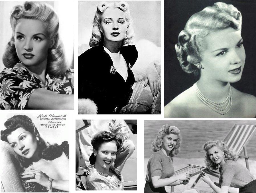 Fryzury modne w latach 40