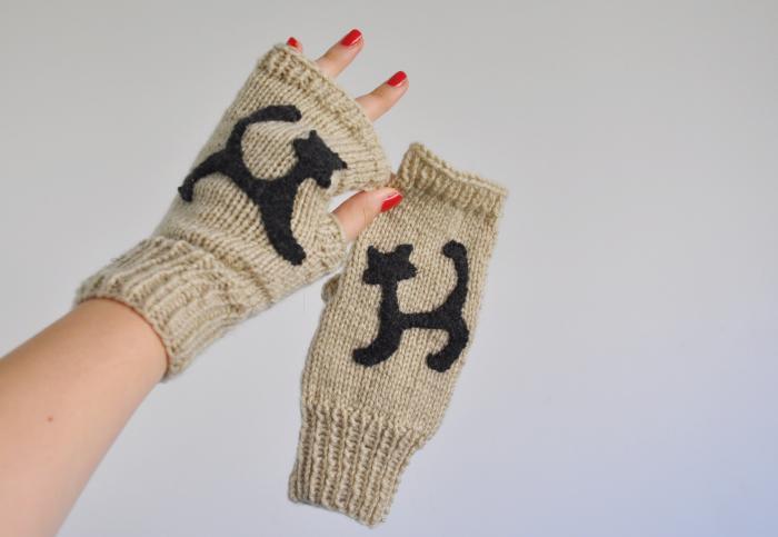 Akrylowe rękawiczki