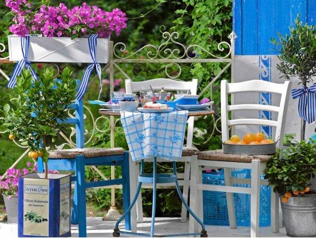 Meble ogrodowe inspirowane stylem greckim