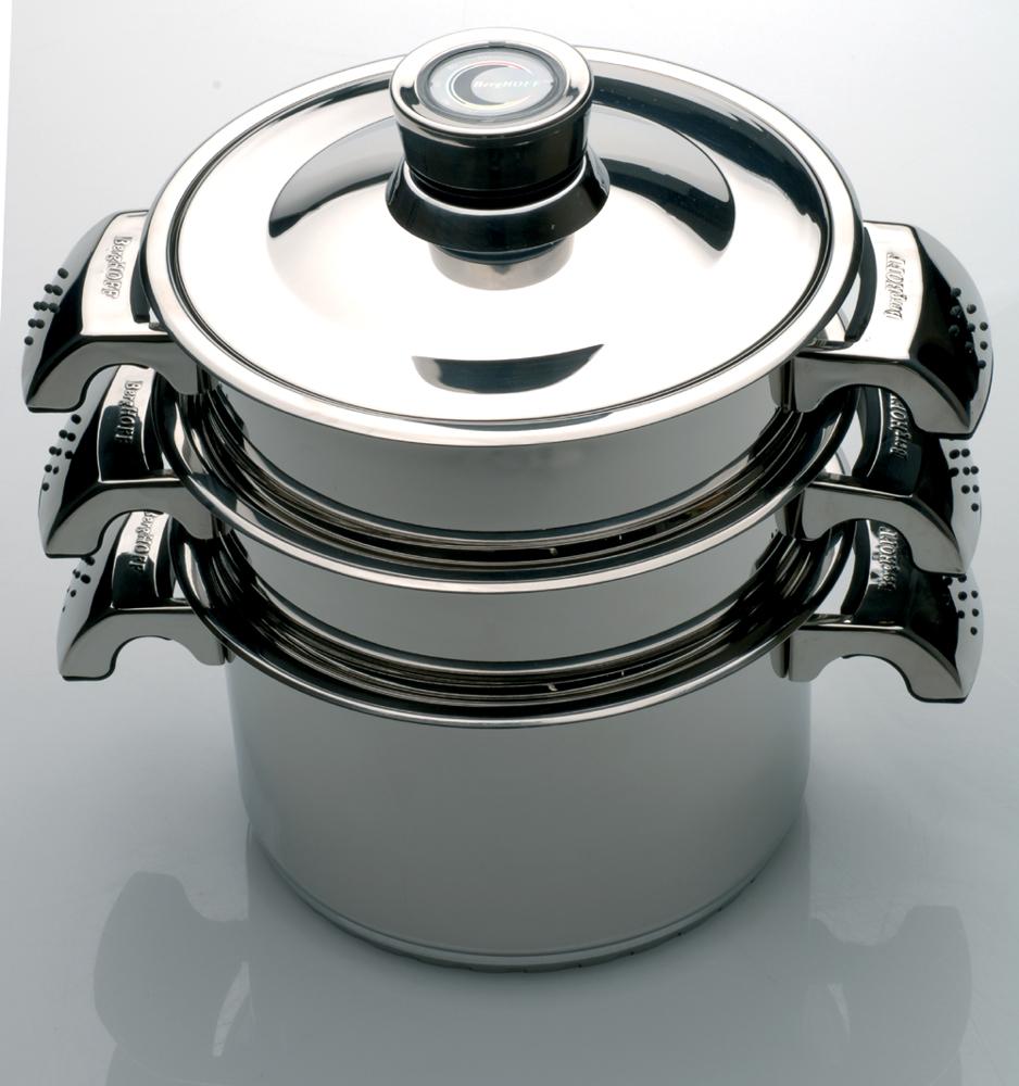 Garnek do gotowania na parze z termometrem