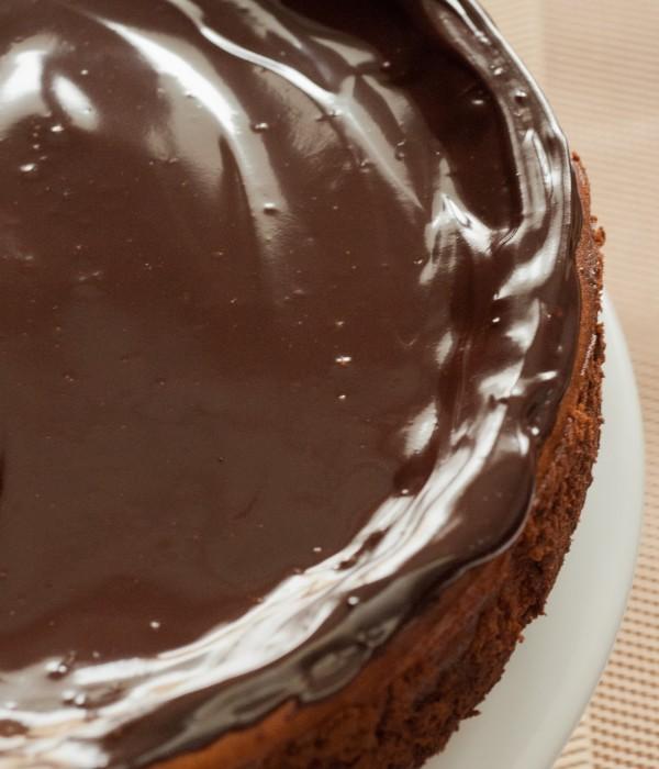 Sernik z gorzką czekoladą