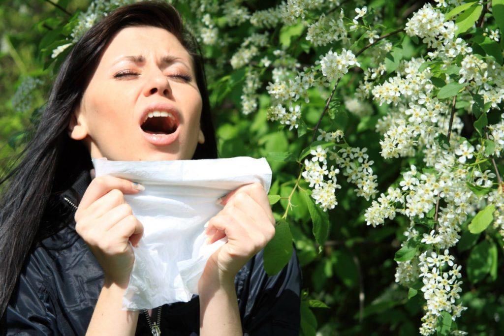 Jednym z symptomów alergii jest katar
