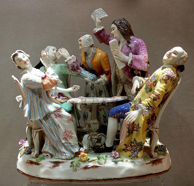 Figurki z miśnieńskiej porcelany