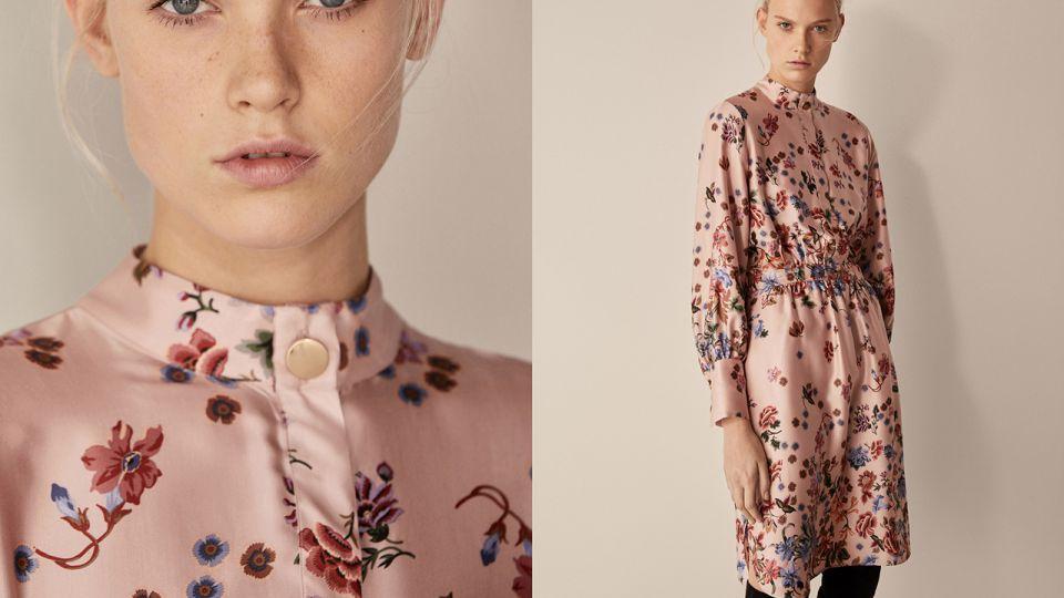Lekka sukienka w romantyczne kwiaty
