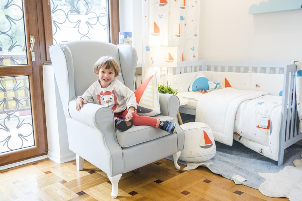 Fotel uszak w pokoju dziecięcym