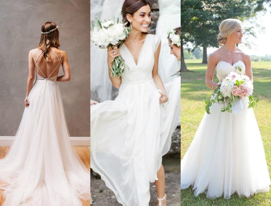 Szyfonowe suknie ślubne