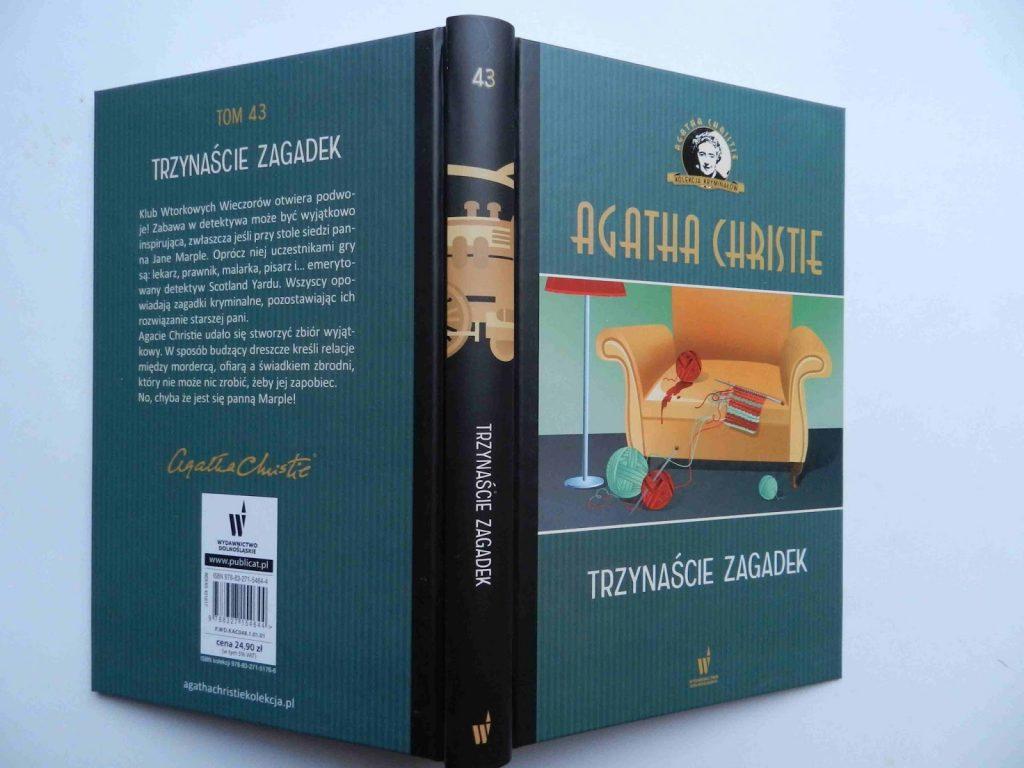 """Okładka książki """"Trzynaście zagadek"""""""